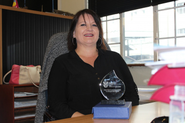 Helen van As, Case Manager at Red Cross War Memorial Children's Hospital, was awarded the 2016 National Public Sector Case Manager of the Year