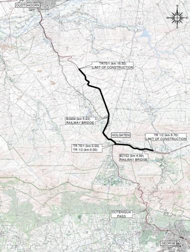 Holgaten, Oudtshoorn and Uniondale roadworks.