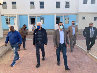 Western Cape Premier Alan Winde and Minister Tertuis Simmers visit Mossel Bay Housing Project