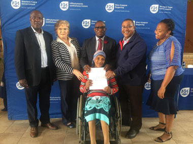 Human Settlements delivers Title Deeds to Robertson Residents