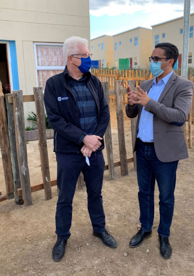 Western Cape Premier Alan Winde and Minister Tertuis Simmers visit Syferfontein Housing Project