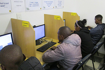 The Ilingelethu e-Centre is committed to serving the community and aid in their skills development.