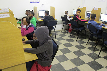 Students from the surrounding schools can now complete assigments and tasks easier at the e-Centre.