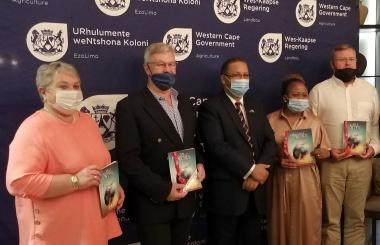 Dr Ilse Trautmann, Hugh Campbell, Minister Ivan Meyer, Bongiswa Matoti and Jannie Strydom