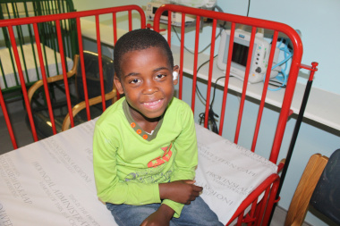 Imange Mgidi (7) from Gugulethu underwent ENT surgery on 5 September 2015 as part of the Weekend Waiting List Initiative.