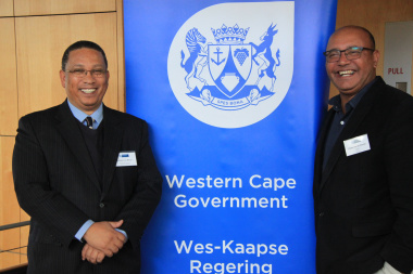 Minister Ivan Meyer and Christo van der Rheede AGRI SA at Fiscal Policy Seminar 2018