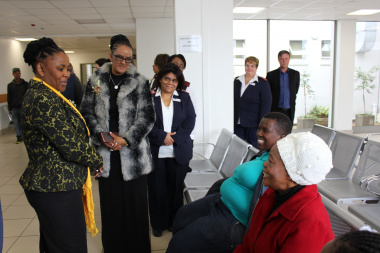 Minister Mbombo during a recent visit