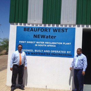 Municipal Manager, Jaffie Booysen and Minister Meyer
