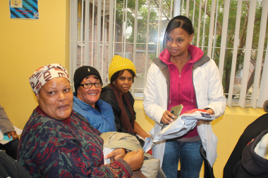 Daniell Varrie - Pharmacist Assistant, handing out medication to clients