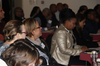 Intensive engagement from delegates in the workshop