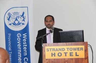 Mr Zakariya Hoosain, Head Official of Western Cape Treasury