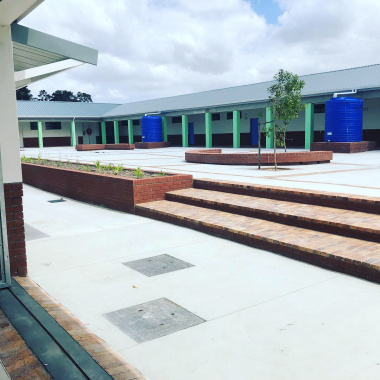 The courtyard of the new Vredekloof Primary School.