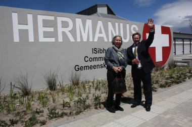Minister Botha outside the new Hermanus CDC