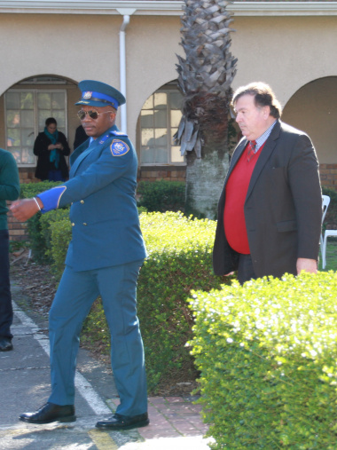Principle Provincial Inspector Thembile Qunta and Minister Grant