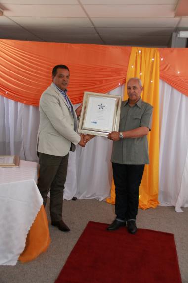Handing Over of Certificate to J America