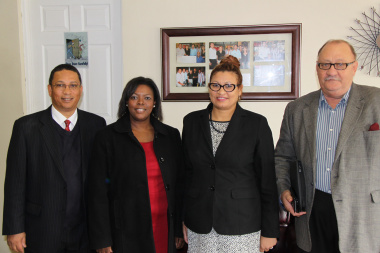 Minister Ivan Meyer, Ms Julinda Gantana, Chief Director: Provincial Government Public Finance, Ms Theresa Cupido, CEO of ATN Group and Mr Sam Pienaar from the City of Cape Town.