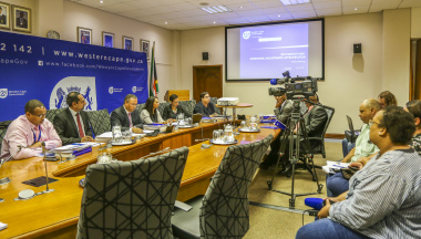 Minister addressing media regards Budget Speech