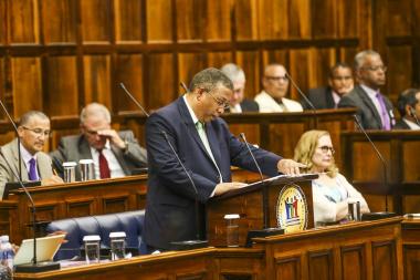 Minister Delivering Budget Speech