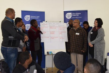 Individual groups shared proposals and solutions at the workshops