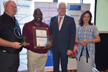 Winner Gilbert Muchanyara at the awards