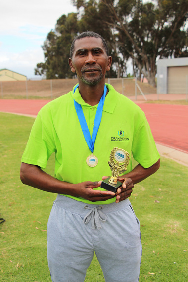 Jonathan Ezaus from Drakenstein Municipality was the first male in the fun-run of the Cape Winelands BTG in Paarl
