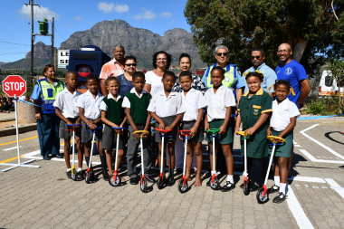 The opening of the Junior Traffic Training Centre at Simondium Primary between Paarl and Franschoek