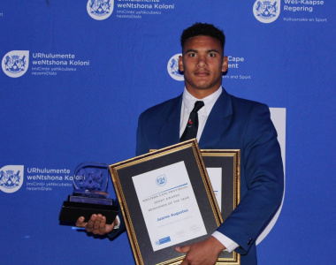 Juarno Augustus won 2017 Western Cape Newcomer of the year and junior sportsman of the year