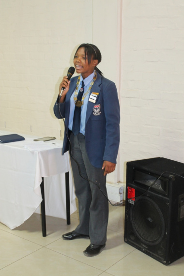 Junior Mayor Ivanka Ceasar in action at the Human Rights Day celebrations at the Worcester Museum on 22 March 2017