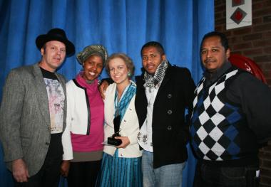 Karl Groger, Lendy Swaartbooi, Janeske Rademan, Anele Situlweni and Moeniel Jacobs.