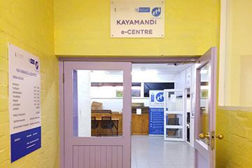 The Kayamandi e-Centre operates from the Kayamandi Library.