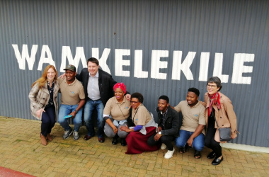 Minister David Maynier with the team at Stellenbosch Township & Village
