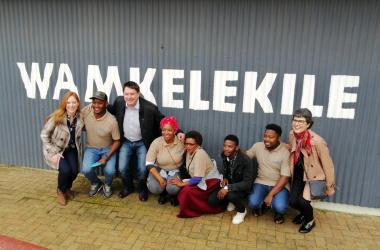 Minister David Maynier with the team at Stellenbosch Township & Village