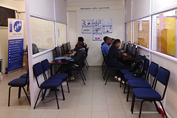 The Kayamandi e-Centre has seen a steady increase in user numbers since it openend in 2015.