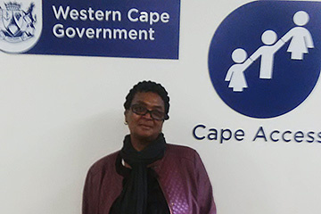 The Kayamandi e-Centre has made a difference in the life of Ntombozuko Hlaleleni.
