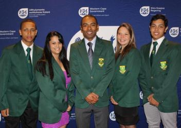 Kenny Solomon with the Chess Junior Proteas