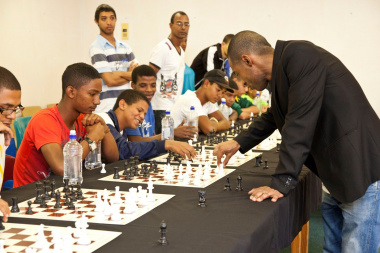 Kenny was impressed by the talent of the young players. Photo by Colourworks