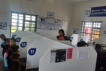 The Kranshoek e-Centre is helping to provide and grow e-skills starting with the younger kids.