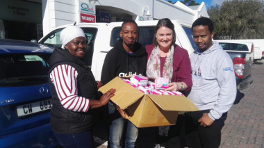 Laingsburg Cllr Lindie Potgieter with DSD Ministry staff