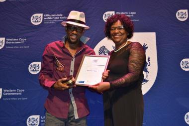 Last-Year's Awards Ceremony:Mluleki D Sam with-Director Jane Moleleki