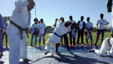 Learners are introduced to basics of judo
