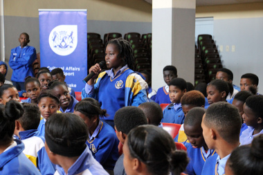Learners engaging in a discussion on bullying