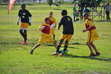 Learners enjoyed the soccer tournament, despite the chilly weather conditions