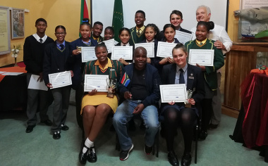 Learners from four local schools participated in a speech evening at the Bartolomeu Dias Museum in Mossel Bay