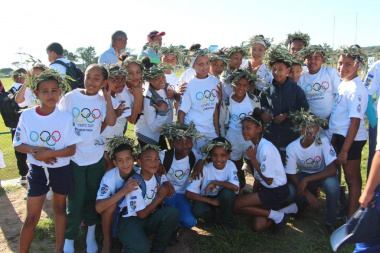 Learners from Slangrivier Primary eagerly anticipated the start of the games