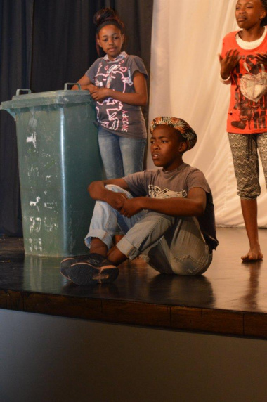 Learners from Tyhalorha Primary School with their simplistic but amazing play