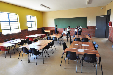 Learners look forward to using their new classroom.