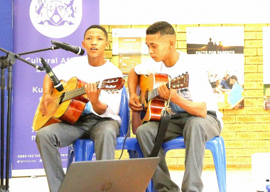 Learners showcasing their musical talents