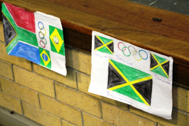 Learners' support for their favourite countries was illustrated during an art competition