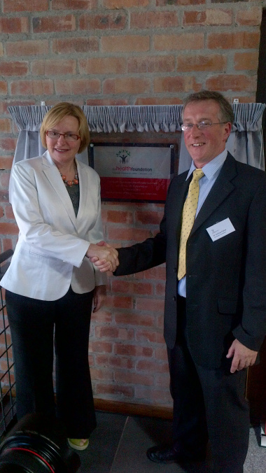 Premier Helen Zille with Dr Joshua Fisher.