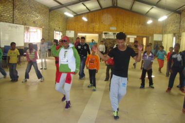 Local Hip hop dancers The Yamazaki's choreographing hip hop dance moves